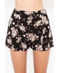Nasty Gal | Black Rosebud Tap Shorts | Lyst