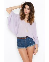 Nasty Gal - Purple Rain Shirt - Lyst