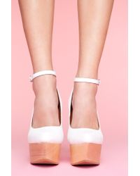 Nasty Gal | White Pizan Platform Wedge | Lyst