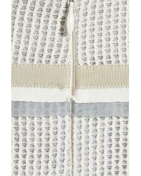Proenza Schouler Gray Cotton-blend and Mesh Strapless Dress