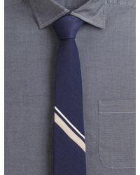 Rag & Bone Blue Signature Striped Tie for men