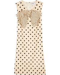 Sonia by Sonia Rykiel - Natural Polka Dot Dress with Bow - Lyst
