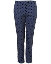 TOPSHOP Blue Spot Ankle Grazer Trousers