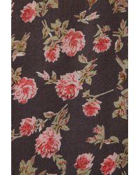 TOPSHOP - Gray Grunge Floral Suntop - Lyst