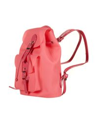 TOPSHOP Pink Frost Plastic Backpack