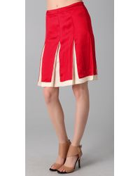 Tory Burch Red Kamille Skirt