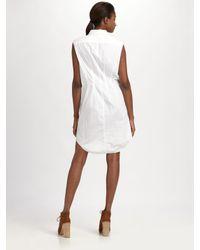 Acne Studios Green Silvan Twisted Back Midi Dress