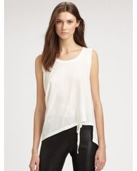 Ann Demeulemeester | White Cotton Top | Lyst