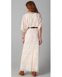 Beyond Vintage White Blouson Lace Gown