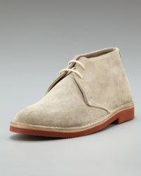 Brunello Cucinelli | Gray Brick-sole Suede Chukka | Lyst