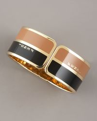 Fendi - Black Two-tone Bangle - Lyst
