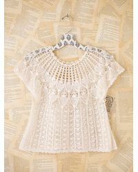 Free People | White Vintage Crochet Top | Lyst