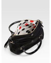 kate spade new york - Black Small Leslie Foldover Nylon & Patent Leather Tote - Lyst