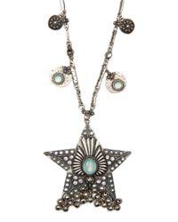Mango - Blue Ethnic Style Necklace - Lyst