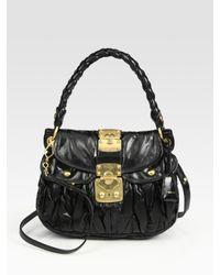 Miu Miu | Black Small Lux Matelasse Coffer Bag | Lyst