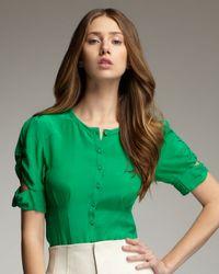 Nanette Lepore | Green Strutting Button-Up Blouse | Lyst