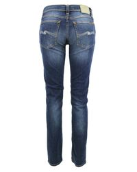 Nudie Jeans   Blue Tube Kelly- Organic Pure Skinny Jeans   Lyst