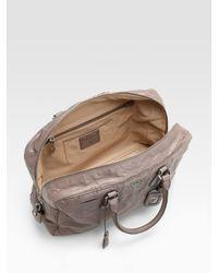 Prada - Gray Nappa Antique Zip Top Bag - Lyst