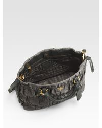 Prada - Gray Tessuto Gaufre Nylon Tote Bag - Lyst