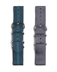 Timex Blue Set Of Two Watch Straps for men