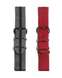 Timex Gray Set Of Two Watch Straps for men
