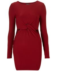 TOPSHOP - Purple Twist Cutout Bodycon Dress - Lyst