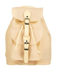 TOPSHOP - Natural Frost Plastic Backpack - Lyst