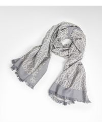 Tory Burch - Gray All Over T Scarf - Lyst