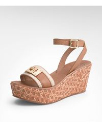 Tory Burch | Brown Camylle Mid Wedge | Lyst