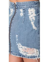 Acne Studios   Blue Finest Trash Skirt in Bleached Indigo   Lyst
