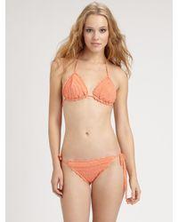 Anna Kosturova - Orange Two-Piece Crochet Bikini - Lyst