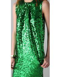 By Malene Birger   Green Amukaji Sequined-Jersey Dress   Lyst