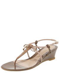 Fendi   Multicolor Bow Wedge Thong Sandal   Lyst