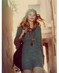 Free People | Green Cable Tunic | Lyst