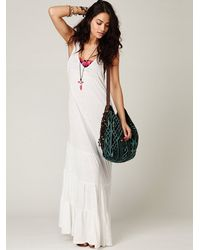 Free People   White Move West Maxi Dress   Lyst