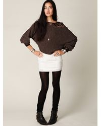 Free People - White Fp New Romantics Pieced Eyelet Mini Skirt - Lyst