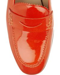 J.Crew - Red Biella Patent-leather Loafers - Lyst