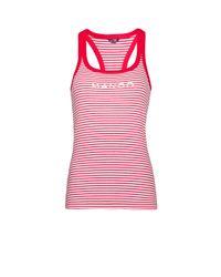 Mango - Red Fitness & Running - Technical Racerback T-Shirt - Lyst