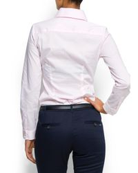 Mango - Pink Button Cuffs Shirt - Lyst