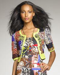 Oscar de la Renta   Multicolor Crocheted Jacket   Lyst