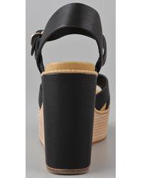 See By Chloé | Black Wedge Platform Sandals | Lyst