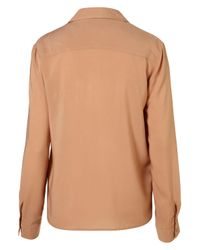 TOPSHOP | Brown Two Pocket Shirt | Lyst