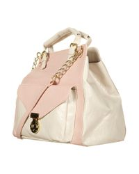 Topshop | Pink Double Handle Chain Bag | Lyst