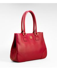 Tory Burch - Red Robinson Small Tote - Lyst