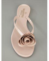 Valentino Natural Rose Flip Flop