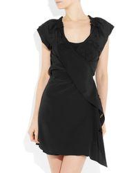 Vanessa Bruno Black Silk Wrap Dress