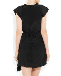 Vanessa Bruno | Black Silk Wrap Dress | Lyst