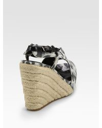 3.1 Phillip Lim - Gray Cotton and Jute Espadrille Wedges - Lyst