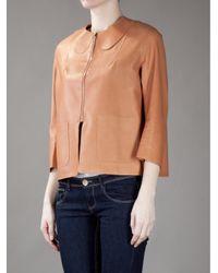 Acne Studios Brown Ryah Leather Jacket