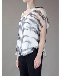 Alexander McQueen Black Tiger Print Vest Top